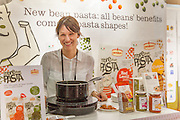 Hanging around the Pedon booth during lunchtime to try all their flavors of 'More Than Pasta'. From Italy, pasta made from beans and lentils so gluten free.