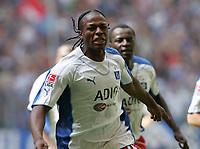 Fotball, 6. august 2005,1-0 Jubel Emile Mpenza HSV<br /> Bundesliga Hamburger SV - 1.FC Nuernberg<br /> Norway only