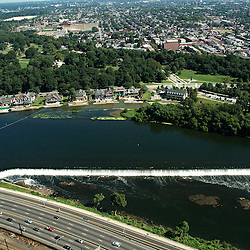 Aerial view of Boat House row on Schuylkill River
