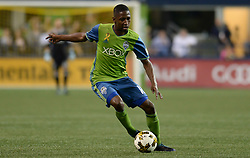 September 27, 2017 - Seattle, WASHINGTON, U.S - Soccer 2017: Defender KELVIN LEERDAM (18) of the Seattle Sounders as the Vancouver Whitecaps visit Seattle for an MLS match at Century Link Field in Seattle, WA. Seattle won the match 3-0. (Credit Image: © Jeff Halstead via ZUMA Wire)