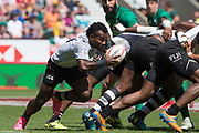 Twickenham, United Kingdom. 3rd June 2018, HSBC London Sevens Series. Game 38 Cup Semi Final. Fiji vs Ireland. <br /> <br /> Fiji's, Jerry TUWAI, break's from the back of the scrum, during the Rugby 7's, match played at the  RFU Stadiu, m, Twickenham, England, <br /> <br /> <br /> <br /> © Peter SPURRIER/Alamy Live News