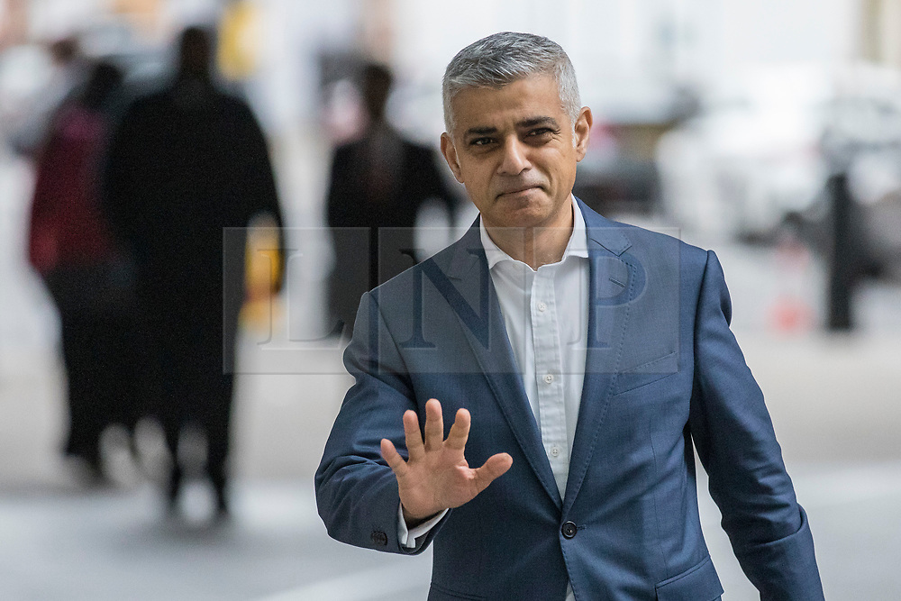© Licensed to London News Pictures. 13/01/2019. London, UK. Mayor of London Sadiq Khan arrives at BBC Broadcasting House to appear on Sunday Politics. Photo credit: Rob Pinney/LNP
