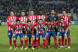 October 25, 2017 - Elche, Alicante, Spain - Line up of Atletico de Madrid (Gimenez, Sergi, Lucas, Thomas, Moya, Fernando Torres, Nico Gaitan, Luciano Vietto, Keidi, Augusto Fernandez, Vrsaljko) during the match between Elche CF vs. Atletico de Madrid, round of 16 -1st leg of Copa del Rey 2017/18 in Martinez Valero Stadium, Elche. 25th of october 2017. (Credit Image: © Jose Breton/NurPhoto via ZUMA Press)