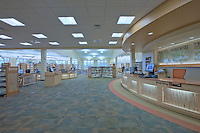 Commercial Real Estate Photographer Jeffrey Sauers of Commercial Photographics of Maryland Image of Harford County Public Library Whitford Branch interior for Mullan Contracting Company and Lawrence Howard and Associates