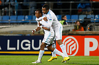 FOOTBALL - FRENCH LEAGUE CUP 2010/2011 - 1/4 FINAL - OLYMPIQUE MARSEILLE v AS MONACO - 10/11/2010 - PHOTO PHILIPPE LAURENSON / DPPI - JOY AFTER GOAL ANDRE AYEW (OM) WITH JORDAN J. AYEW (OM)