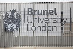 Uxbridge, UK. 16 November, 2019. A sign at Brunel University.