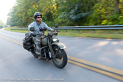 Randy Samz riding his 1942 Harley-Davidson WLA during the Cross Country Chase motorcycle endurance run from Sault Sainte Marie, MI to Key West, FL. (for vintage bikes from 1930-1948). Stage-6 from Chattanooga, TN to Macon, GA USA covered 258 miles. Wednesday, September 11, 2019. Photography ©2019 Michael Lichter.