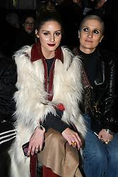Olivia Palermo and Maria Grazia Chiuri attend the Giambattista Valli Ready to wear Fall/Winter 2018-19 at Palais de Tokyo in Paris, France on March 5, 2018. Photo by Laurent Zabulon/ABACAPRESS.COM