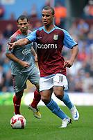 Gabriel Agbonlahor<br /> Aston Villa 2008/09<br /> Aston Villa V Liverpool 31/08/08<br /> The Barclays Premier League<br /> Photo Robin Parker Fotosports International