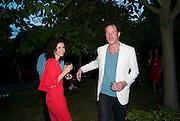 MOLLIE DENT-BROCKLEHURST; PETROC SESTI, The Summer Party. Serpentine Gallery. 8 July 2010. -DO NOT ARCHIVE-© Copyright Photograph by Dafydd Jones. 248 Clapham Rd. London SW9 0PZ. Tel 0207 820 0771. www.dafjones.com.
