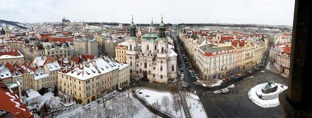 Prague, Czech Republic panorama Elevated view