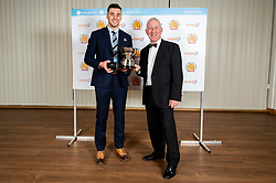 Nuffield Community Player Of the year winner Joseph Parker-Cook with John Thompson from Sponsor Nuffield Health - Ryan Hiscott/JMP - 16/05/2019 - SPORT - Sandy Park - Exeter, England - Exeter Chiefs End of Season Awards