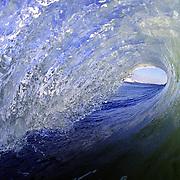 A wave breaks near Wrightsville Beach, NC.
