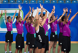 September 23, 2018 - Daria Gavrilova of Australia meets ball kids at the 2018 Dongfeng Motor Wuhan Open WTA Premier 5 tennis tournament (Credit Image: © AFP7 via ZUMA Wire)