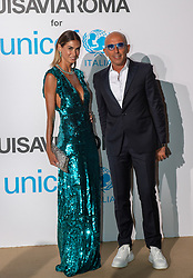 Melissa Satta arriving at a photocall for the Unicef Summer Gala Presented by Luisaviaroma at Villa Violina on August 10, 2018 in Porto Cervo, Italy. Photo by Alessandro Tocco/ABACAPRESS.COM
