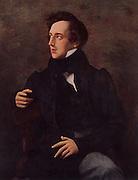Felix Mendelssohn (1809-1847) (Jakob Ludwig Felix Mendelssohn-Bartholdy) German Romantic composer, born in Hamburg. After the portrait by Wilhelm Hensel (1794-1861).