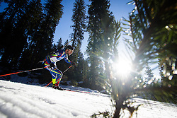Jean Guillaume Beatrix (FRA) during Men 15 km Mass Start at day 4 of IBU Biathlon World Cup 2015/16 Pokljuka, on December 20, 2015 in Rudno polje, Pokljuka, Slovenia. Photo by Ziga Zupan / Sportida