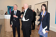 GILLIAN WEARING; MICHAEL LANDY; BILL WOODROW; , Royal Academy of Arts Annual dinner. Royal Academy. Piccadilly. London. 1 June <br /> <br />  , -DO NOT ARCHIVE-© Copyright Photograph by Dafydd Jones. 248 Clapham Rd. London SW9 0PZ. Tel 0207 820 0771. www.dafjones.com.