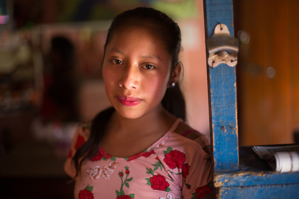 A young woman in the market in Intibucá. Berta Cáceres campaigned and organised communities in Intibucá and other areas of Honduras to defend indigenous rights and territories before her assassination.