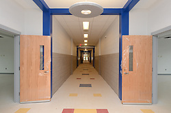 Hanover Elementary School - Kindergarten Addition<br /> James R Anderson Photographer | photog.com 203-281-0717<br /> Andrade Architects, LLC. Enfield Builders, Inc.<br /> Photography Date: 9 October 2012<br /> Camera View: Looking North, Hallway 1/3 from South end<br /> Image Number 11