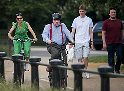 © Licensed to London News Pictures. 12/06/2021. London, UK. Members of the public enjoy the warm weather in Hyde Park in central London on another hot summer's day. This weekend is expected to be the hottest of the year so far. Photo credit: Ben Cawthra/LNP