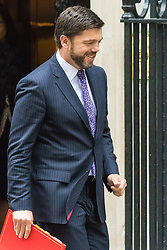 Downing Street, London, June 2nd 2015. Welsh Secretary Stephen Crabb leaves 10 Downing Street following the weekly meeting of the Cabinet.