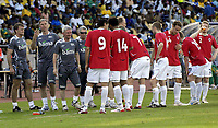 Fotball<br /> Privatlandskamp<br /> Sør Afrika v Norge 2-1<br /> Rustenburg<br /> 28.03.2009<br /> Foto: Vegard Fiskerstrand, Digitalsport<br /> <br /> Frode Grodaas - Thor Einar Andersen -  Roar Robinson - Egil Olsen