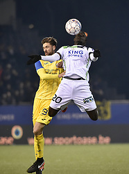 February 17, 2018 - Leuven, BELGIUM - Beerschot's Jan Van Den Bergh and OHL's Simon Diedhiou fight for the ball during a soccer game between OH Leuven and KFCO Beerschot Wilrijk, in Heverlee, Leuven, Saturday 17 February 2018, on day 27 of the division 1B Proximus League competition of the Belgian soccer championship. BELGA PHOTO BRUNO FAHY (Credit Image: © Bruno Fahy/Belga via ZUMA Press)
