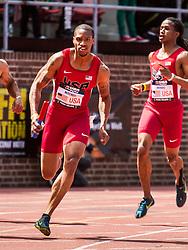 Penn Relays, USA vs the World, mens 4 x 200 meter relay, Maurice Mitchell, USA