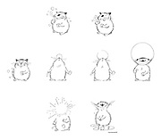 (Max the hamster, blowing bubbles)