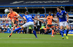 Jon Dadi Bodvarsson of Reading shoots but curls it wide - Mandatory by-line: Paul Roberts/JMP - 26/08/2017 - FOOTBALL - St Andrew's Stadium - Birmingham, England - Birmingham City v Reading - Sky Bet Championship
