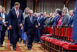 """Dutch King Willem-Alexander receives United Nations Secretary-General Antonio Guterres in The Hague, the Netherlands, on December 21, 2017. In presence of among others United Nations Secretary-General Antonio Guterres and Dutch King Willem-Alexander, the International Criminal Tribunal for the Former Yugoslavia (ICTY) closed its doors after 24 years with a closing ceremony in the """"Ridderzaal"""", or Hall of Knights, in The Hague on Thursday. Photo by Robin Utrecht/ABACAPRESS.COM"""