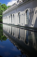 Reflections of the Macau Museum located at Monte Fort.