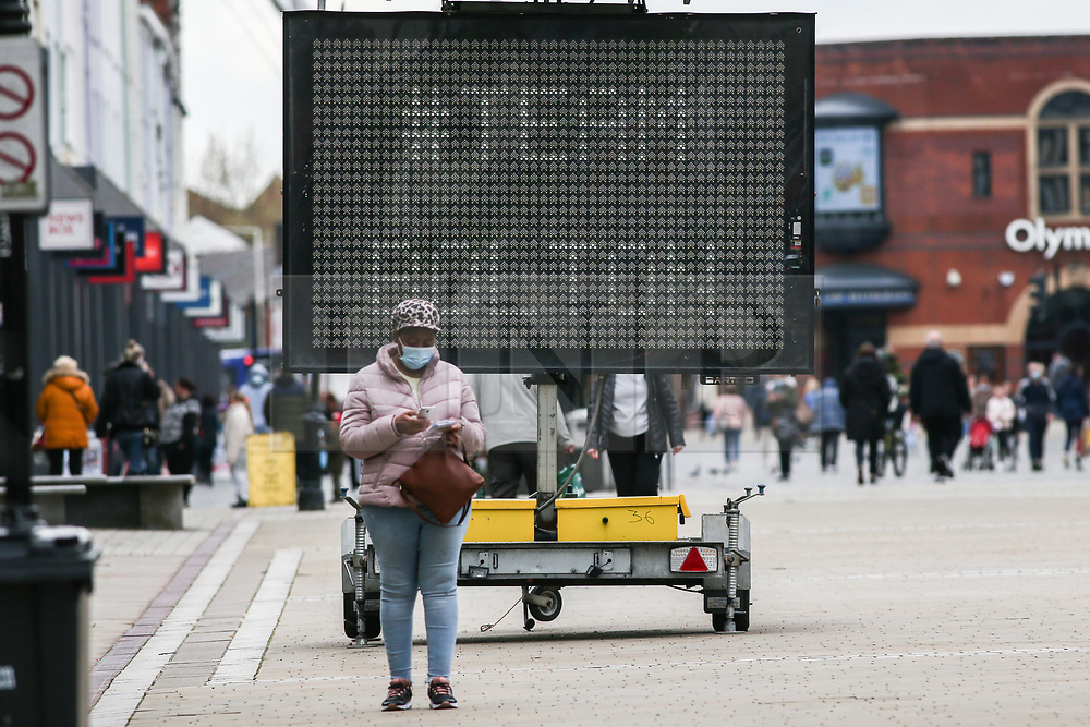 © Licensed to London News Pictures. 14/05/2021. Bolton, UK. Bolton town centre on Friday. Bolton now has the highest infection rate in Britain at 192.3 cases per 100,000. Photo credit: Adam Vaughan/LNP