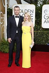 Naomi Watts und Liev Schreiber  bei der Verleihung der 72nd Golden Globe Awards in Beverly Hills / 110115 <br /> <br /> ***Golden Globe Awards held in Beverly Hills, California on January 11, 2015***