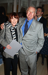 MARY QUANT and SIR TERENCE CONRAN at a party to celebrate the opening of Jasper Conran's new shop and HQ at 36 Sackville Street, London W1 on 15th February 2005.<br /><br />NON EXCLUSIVE - WORLD RIGHTS