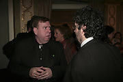 Timothy Spall and Stephen Poliakoff, Cocktail party before the  27th Annual London Film Critics' Circle Awards. In aid of the NSPCC. Dorchester. 8 February 2007.  -DO NOT ARCHIVE-© Copyright Photograph by Dafydd Jones. 248 Clapham Rd. London SW9 0PZ. Tel 0207 820 0771. www.dafjones.com.