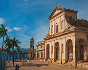 The wonderfully neo-baroque Plaza Mayor in Trinidad, Cuba. Here the Church of the Holy Trinity is surrounded by a wonderful mix of old colonial style buildings.
