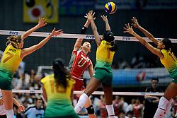 23-08-2009 VOLLEYBAL: WGP FINALS JAPAN - BRAZILIE: TOKYO <br /> Brazilie wint met 3-1 van Japan en zijn de winnaar van de Grand Prix 2009 / Erika ARAKI<br /> ©2009-WWW.FOTOHOOGENDOORN.NL