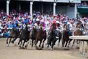 May 3, 2019: 145th Kentucky Oaks at Churchill Downs. Serengeti Empress, ridden by jockey Jose Ortiz, wins the 145th running of the Kentucky Oaks at Churchill Downs on Friday May 3.
