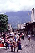 Plaza Mayor, Antigua, Guatemala, Central America,