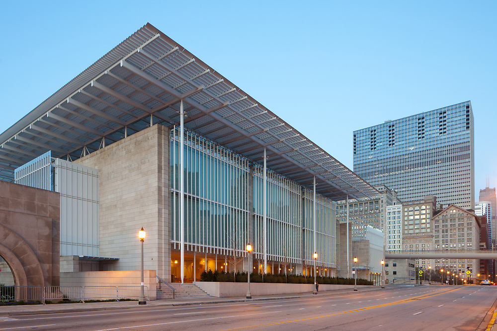 Chicago, Illinois, United States - The Art Institute of Chicago at dawn.