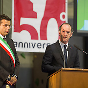 LONGARONE, ITALY - OCTOBER 09:  Ê President of Regione Veneto Luca Zaia speaks during the remembrance for the Vajont victims on October 9, 2013 in Longarone, Italy. Today is the 50th anniversary of the Vajont disaster, which occurred on 9th October 1963, and is the worst landslide disaster in European history with 2000 people killed.  (Photo by Marco Secchi/Getty Images)