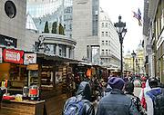 Eastern Europe, Hungary, Budapest, outdoor street market eastern bazaar Vorosmarty square