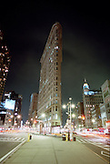 Flatiron building at night NYC