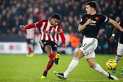 Lys Mousset of Sheffield United scores a goal to make it 2-0 - Mandatory by-line: Robbie Stephenson/JMP - 24/11/2019 - FOOTBALL - Bramall Lane - Sheffield, England - Sheffield United v Manchester United - Premier League