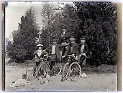 vintage moment as the human with bicycle pyramid pose is collapsing