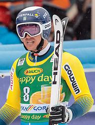 04.03.2017, Podkoren, Kranjska Gora, SLO, FIS Weltcup Ski Alpin, Kranjska Gora, Riesenslalom, Herren, 2. Lauf, im Bild Andre Myhrer (SWE) // Andre Myhrer of Sweden reacts after his 2nd run of men's Giant Slalom of FIS ski alpine world cup at the Podkoren in Kranjska Gora, Slovenia on 2017/03/04. EXPA Pictures © 2017, PhotoCredit: EXPA/ Johann Groder