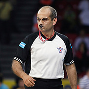 Referee's Recep ANKARALI during their Turkish Basketball league Play Off Final Sixth Leg match Fenerbahce Ulker between Efes Pilsen at the Abdi Ipekci Arena in Istanbul Turkey on Wednesday 02 June 2010. Photo by Aykut AKICI/TURKPIX
