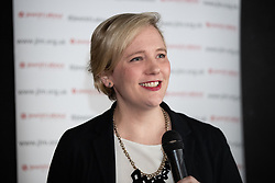© Licensed to London News Pictures . 23/09/2018. Liverpool, UK. STELLA CREASY MP at a rally by The Jewish Labour Movement at The Liverpool Pub in central Liverpool during the first day of the 2018 Labour Party Conference . Photo credit: Joel Goodman/LNP